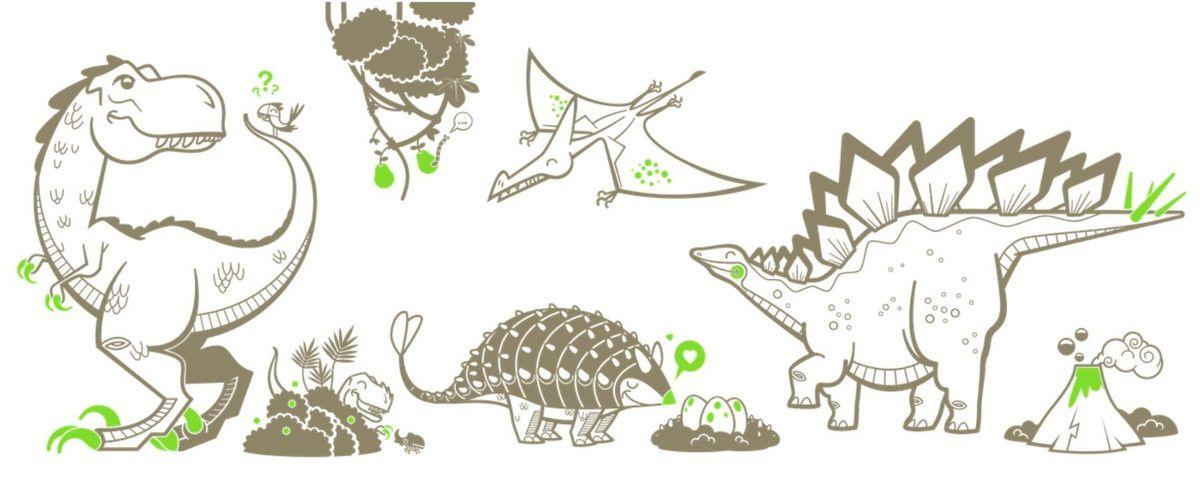 Kit Adesivos Dinossauros