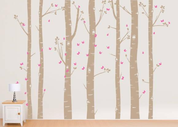 Adesivo de Parede Árvores com Borboletas 34B206