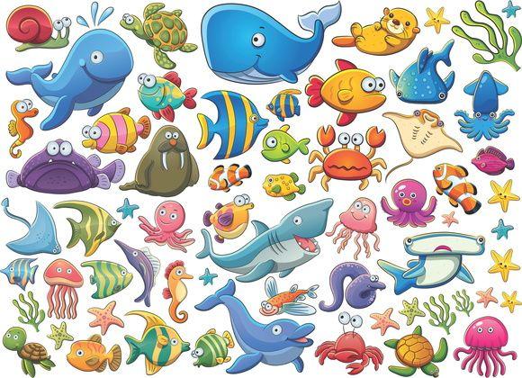 Adesivos Mundo Marinho Peixes