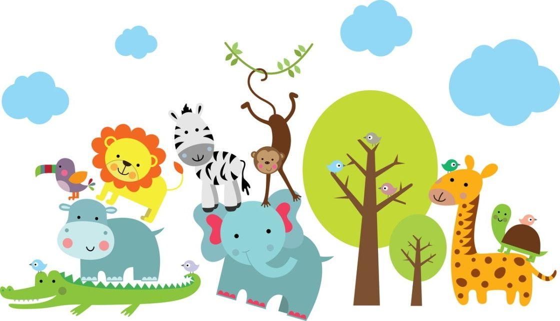 Adesivos de Parede Animais Safari