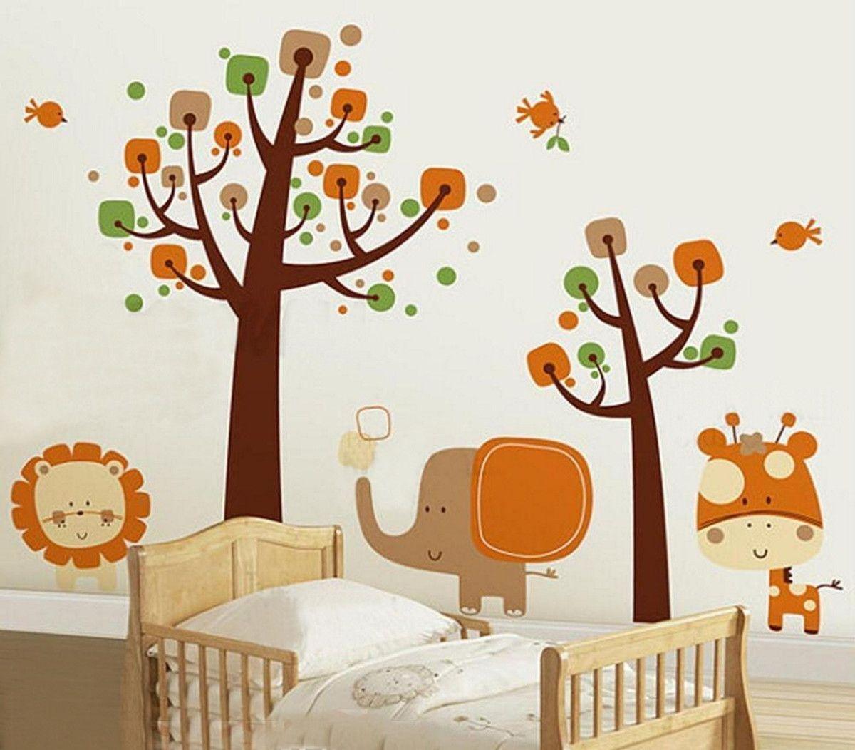Adesivo de Parede Árvore com Animais Safari 33C108