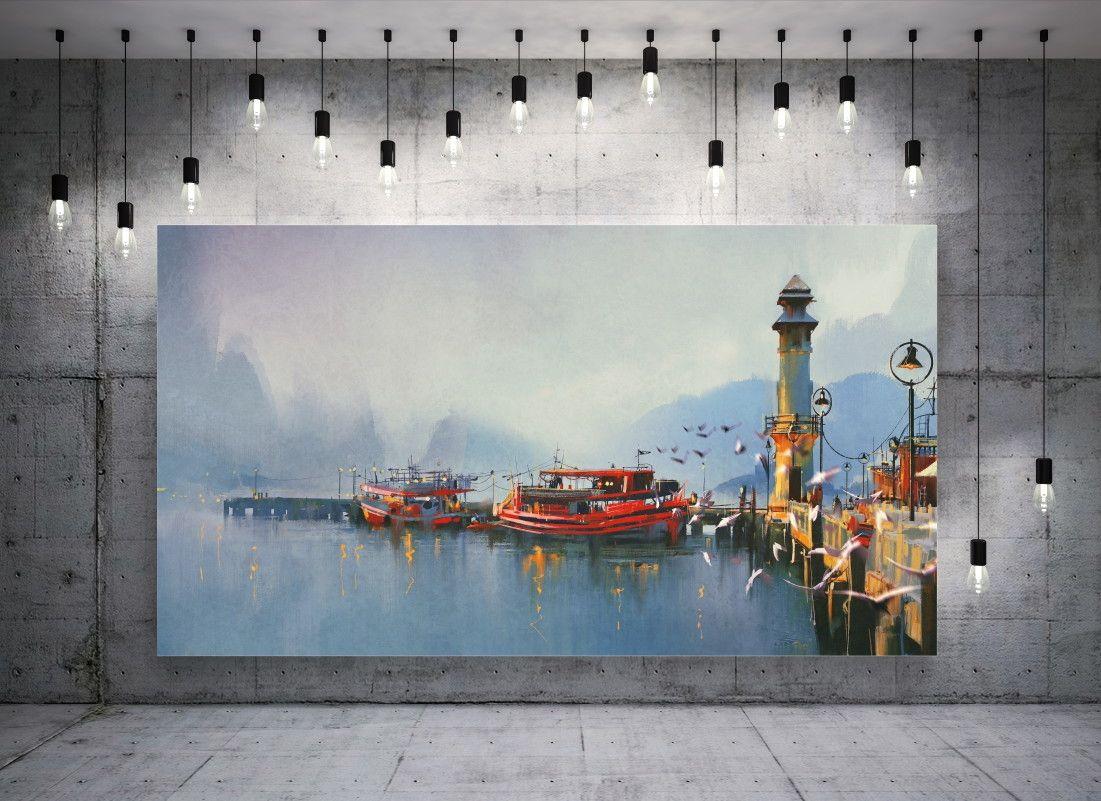 Mural de Parede Barcos Mar 6A8498
