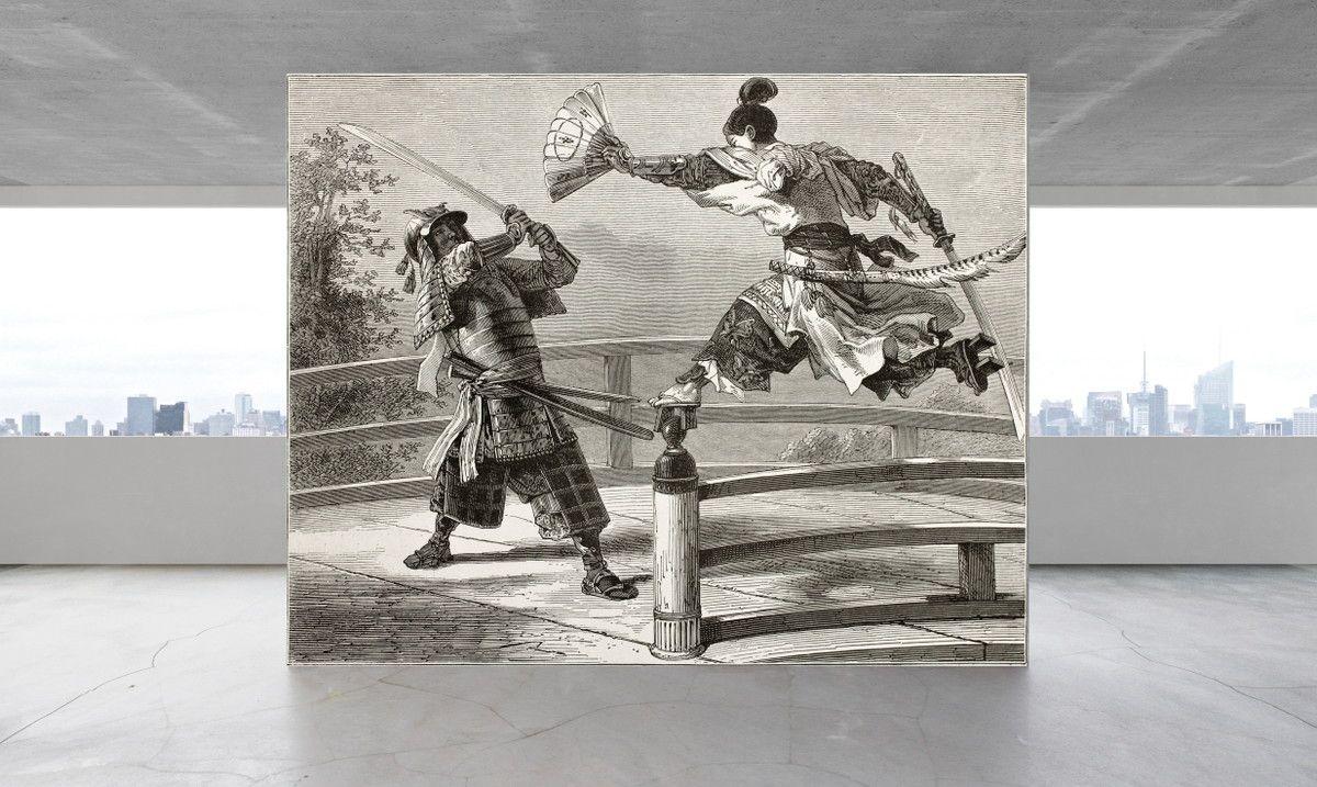 Mural de Parede Ilustração Samurais 69C889
