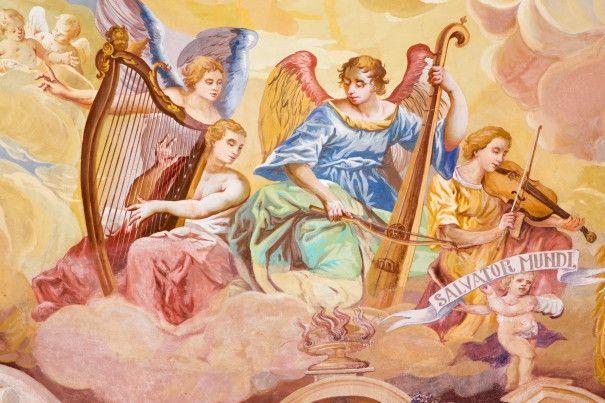 Mural de Parede Religião Anjos nas Nuvens 8545C3