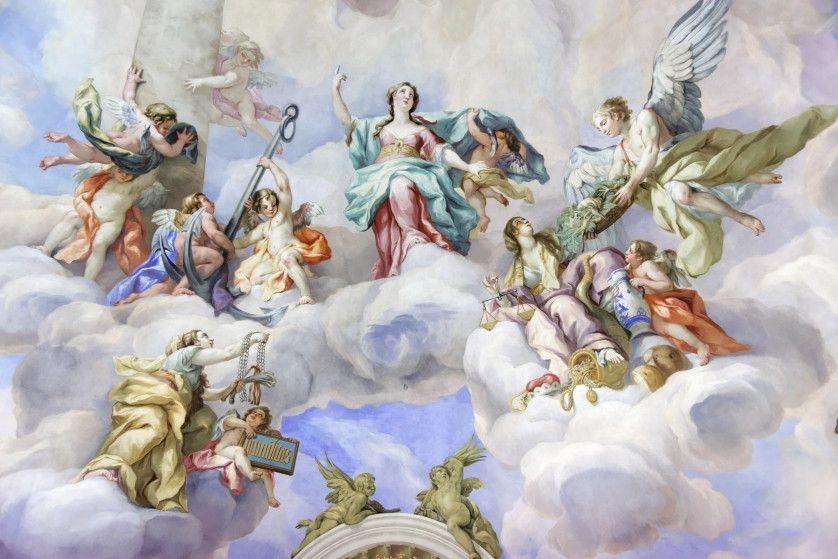 Mural de Parede Nuvens com Anjos 42D4AF