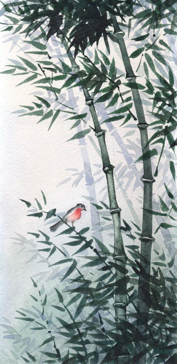 Mural de Parede Bambus Oriental 8558D1