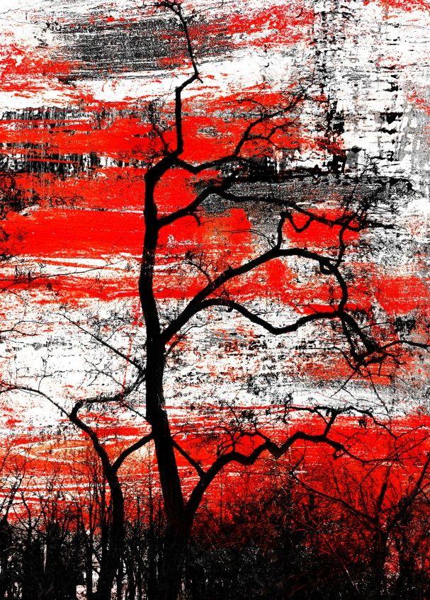 Mural de Parede Árvores Galho Seco Abstrato 811B6F