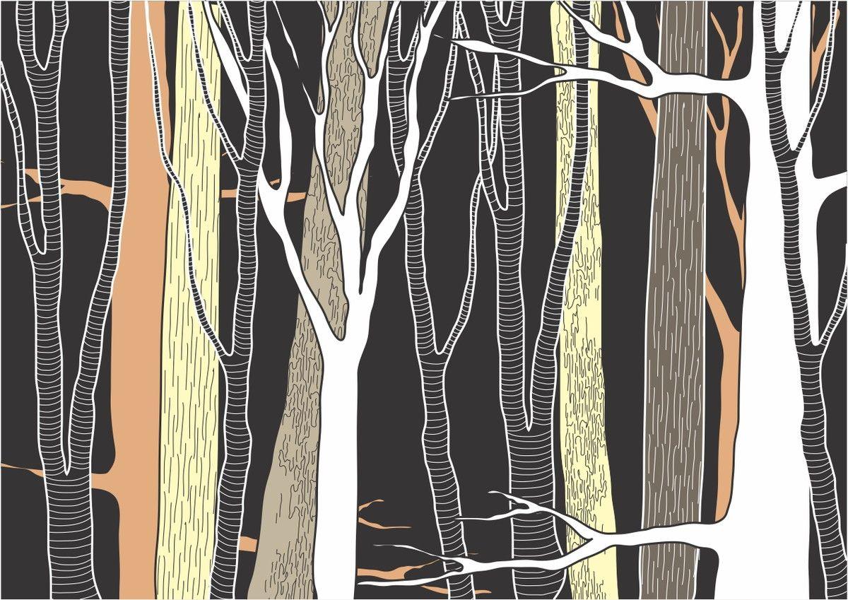 Mural de Parede Árvores Floresta Ilustração 706932