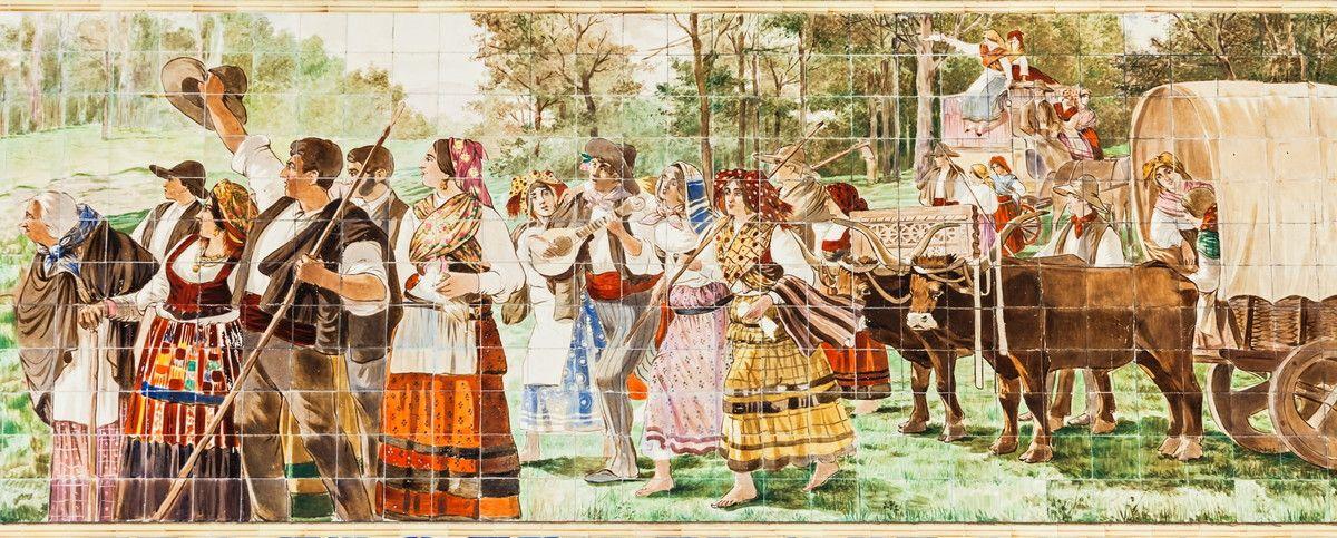 Mural de Parede Azulejos Camponeses 811CD2