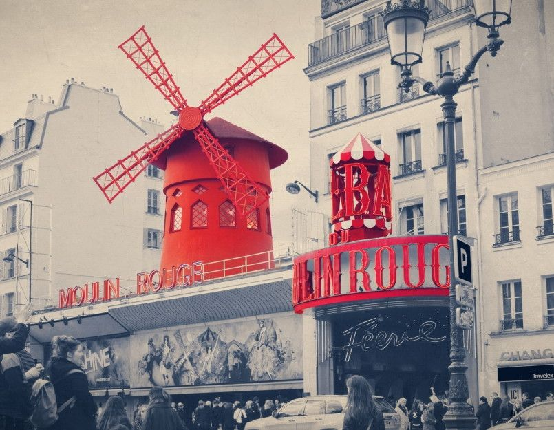 Papel de Parede Paris Moulin Rouge 50CCB3