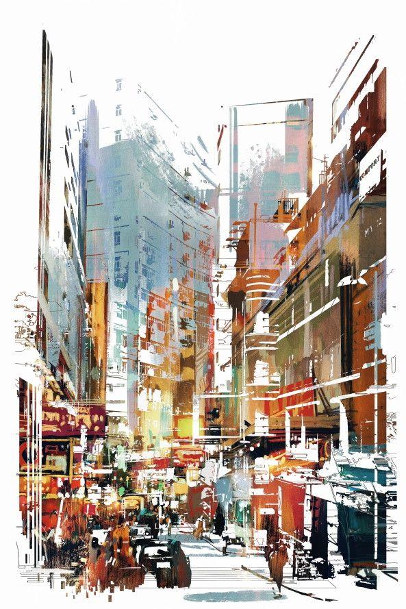 Mural de Parede Cidades Ilustração 8557A4