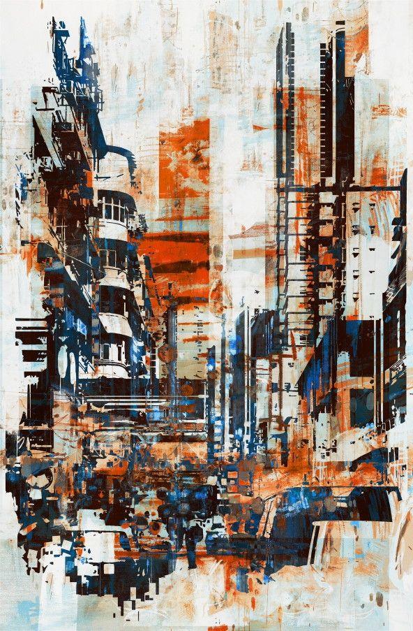 Mural de Parede Cidades Ilustração 855799