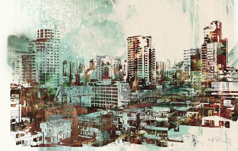 Mural de Parede Cidades Ilustração 8118D1