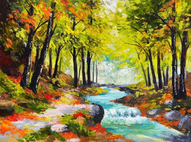 Mural de Parede Árvores Floresta 42314B
