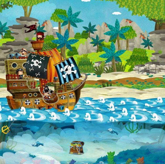 Mural de Parede Navio Pirata 663EB9