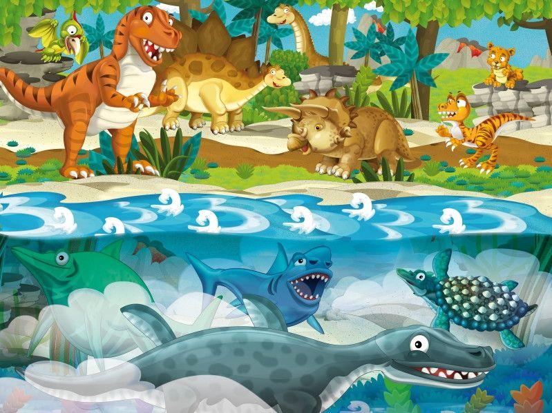 Mural de Parede Dinossauros 663EAB