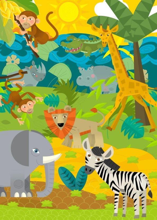 Mural de Parede Animais Safari 663CA0