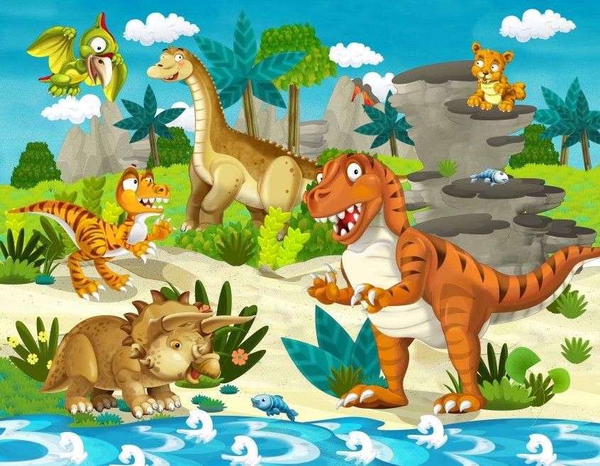 Mural de Parede Dinossauros 4228DC