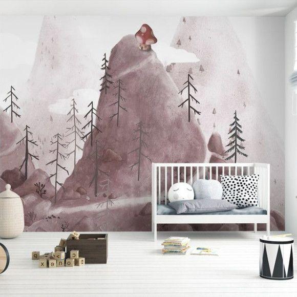 Mural de Parede Montanhas Aldeia e Fantasia E9D47E