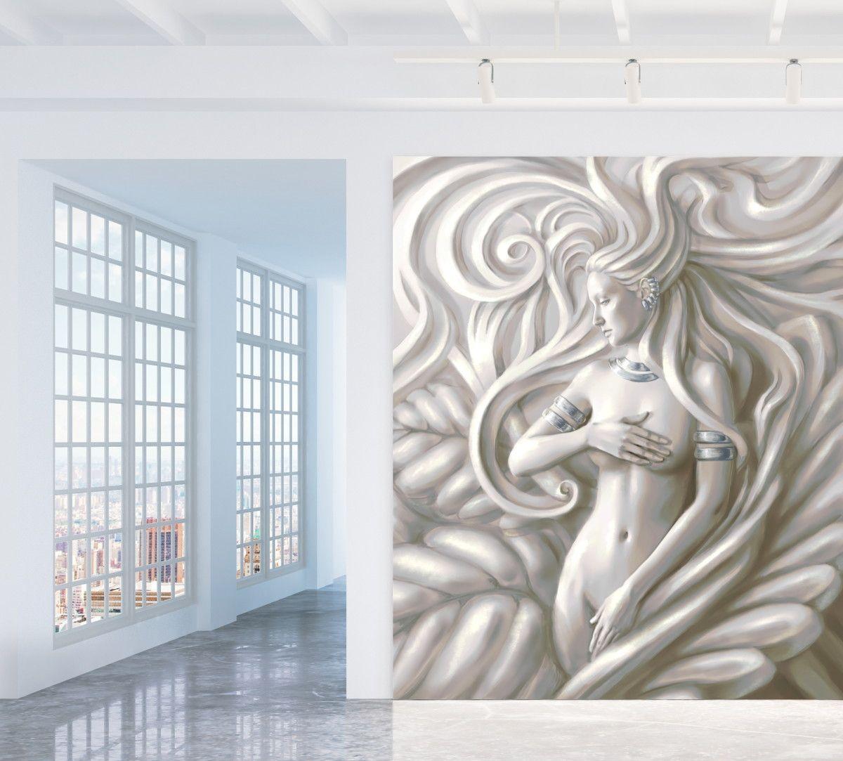 Mural de Parede Efeito 3D 6E028B