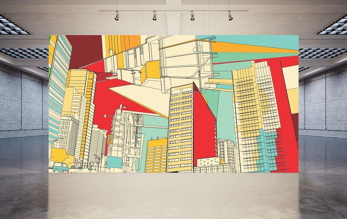 Mural de Parede Cidades Ilustração 69B5E0