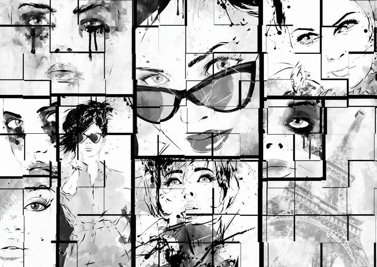 Mural de Parede Moda e Beleza Ilustração Colagem 84EADF