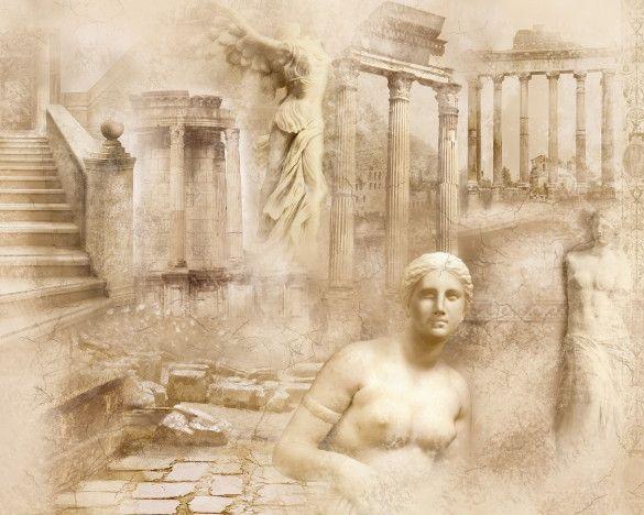 Mural de Parede Ilustração Grécia Antiga 855A5A