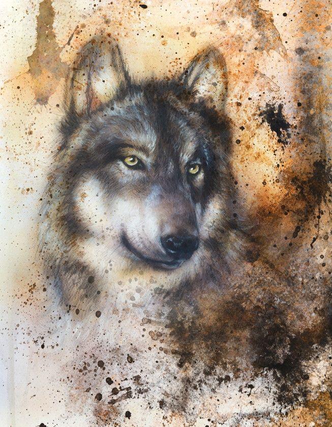 Mural de Parede Ilustração Lobo 8EEC13