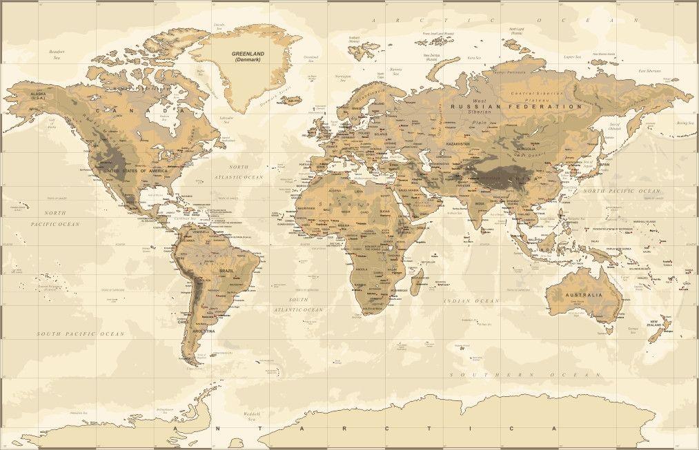 Mural de Parede Mapa Mundi A27DBB