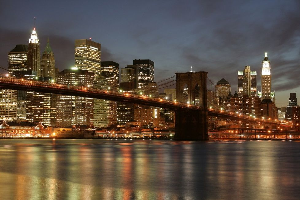 Mural de Parede Cidades Nova York Ponte Brooklyn A27D8D