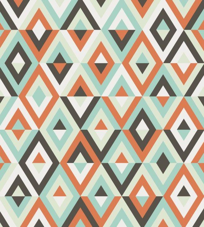 Papel de Parede Geométrico Triângulos Losangos 7074EB