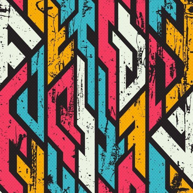 Papel de Parede Geométrico Grafite 66BB7A