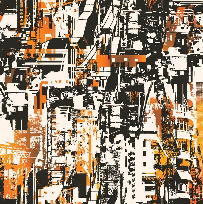 Papel de Parede Abstrato Cidades 85153D