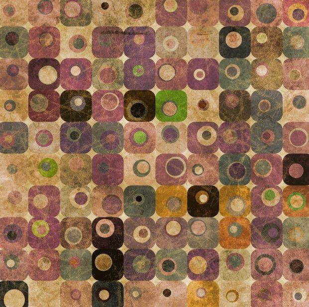 Papel de Parede Geométrico Abstrato Retrô 41FAD5