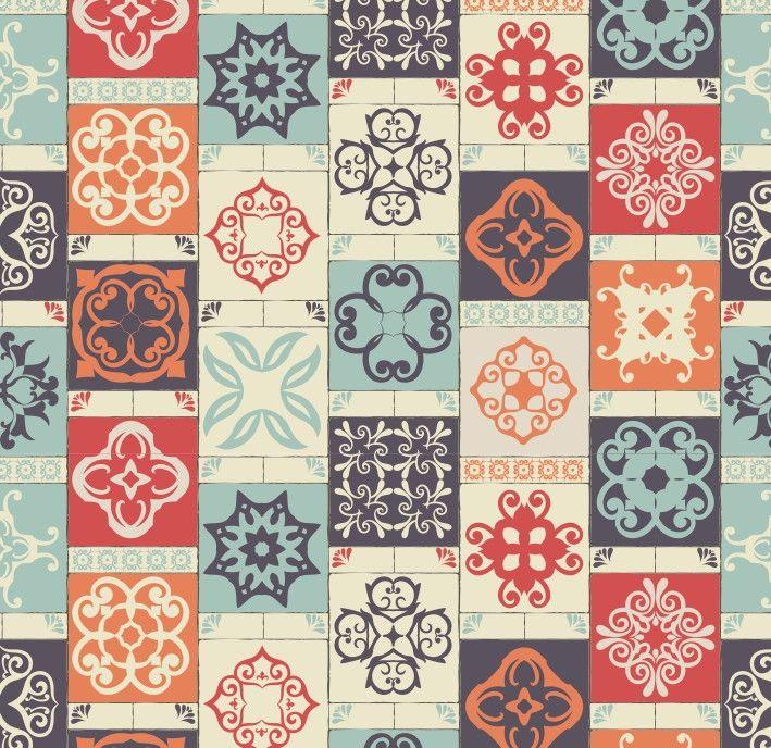 Papel de Parede Azulejos 65CF7F
