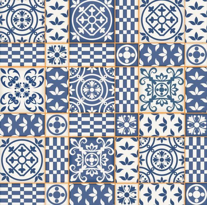 Papel de Parede Azulejos 65CF4D