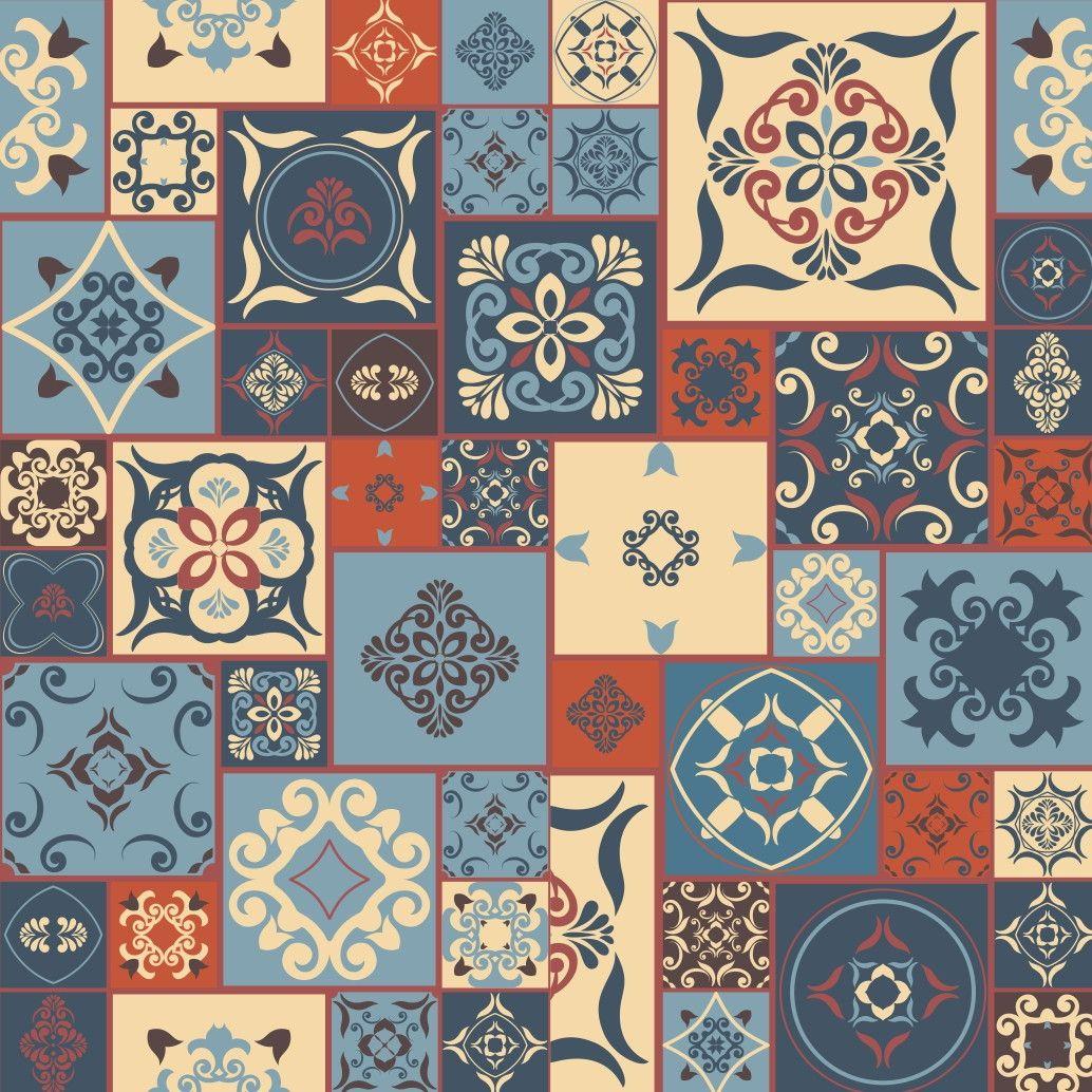 Papel de Parede Azulejos 65CE41