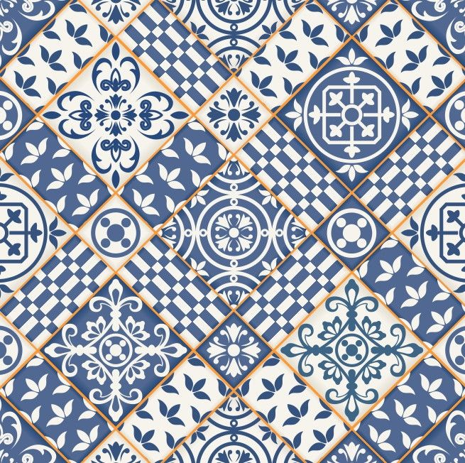 Papel de Parede Azulejos 50B51E