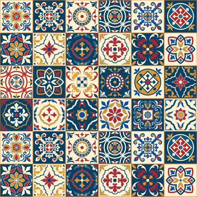 Papel de Parede Azulejos 4B2303