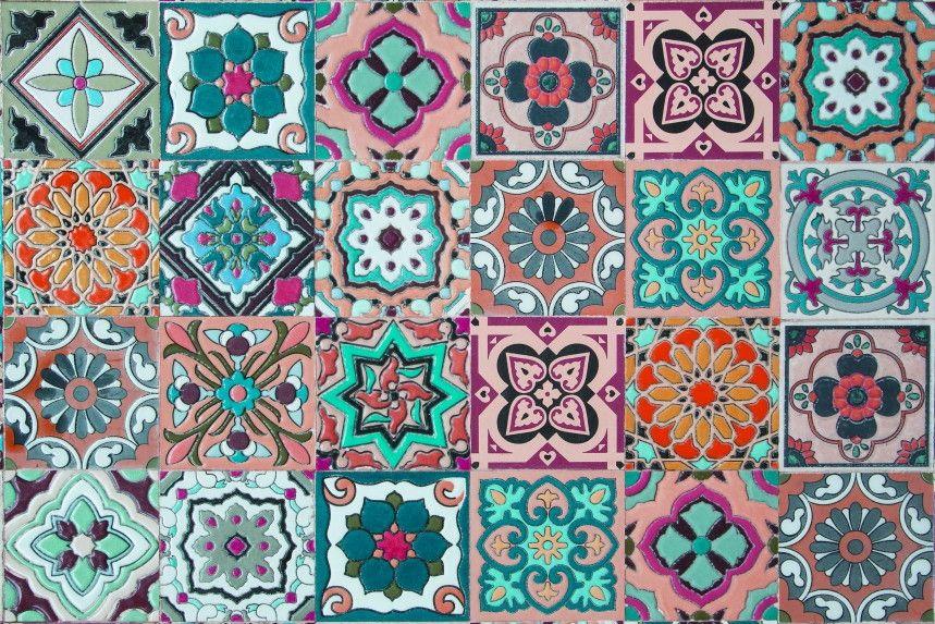 Papel de Parede Azulejos 44F036
