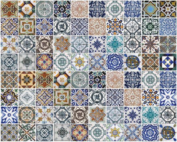 Papel de Parede Azulejos 42D412