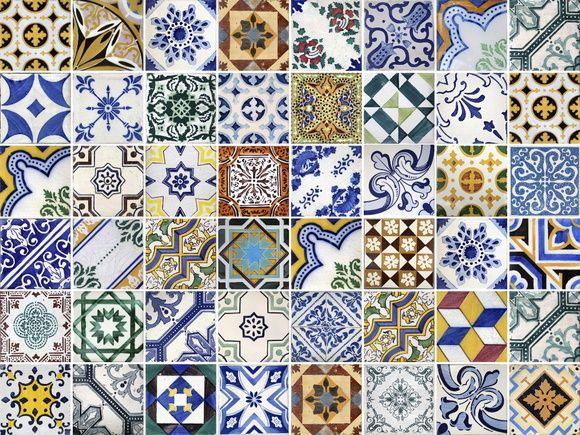 Papel de Parede Azulejos 40AA42