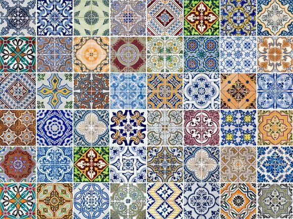 Papel de Parede Azulejos 3FE141