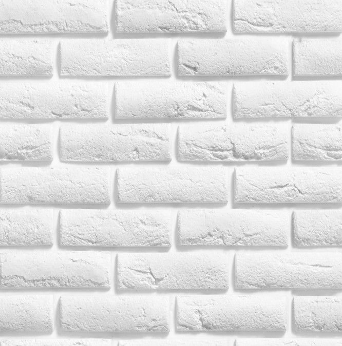 Papel de Parede Tijolinhos Branco 3DB7E7