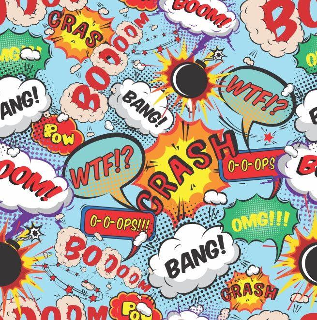 Papel de Parede Expressões Quadrinhos 45AA65