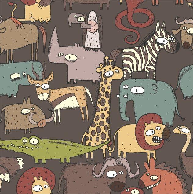 Papel de Parede Animais Safari 592B94