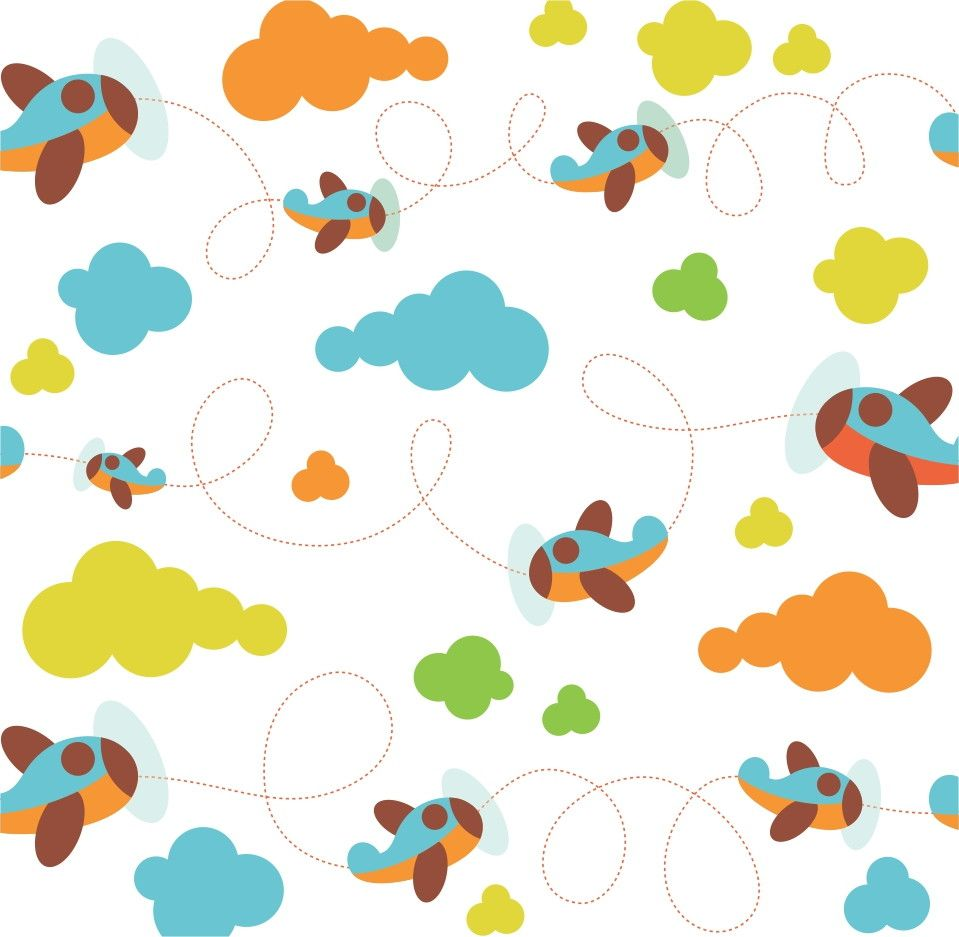 Papel de Parede Nuvens e Aviões 3FE903