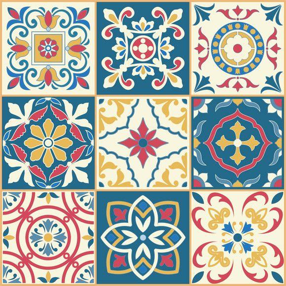 Adesivo Ladrilho Azulejos 4B2303