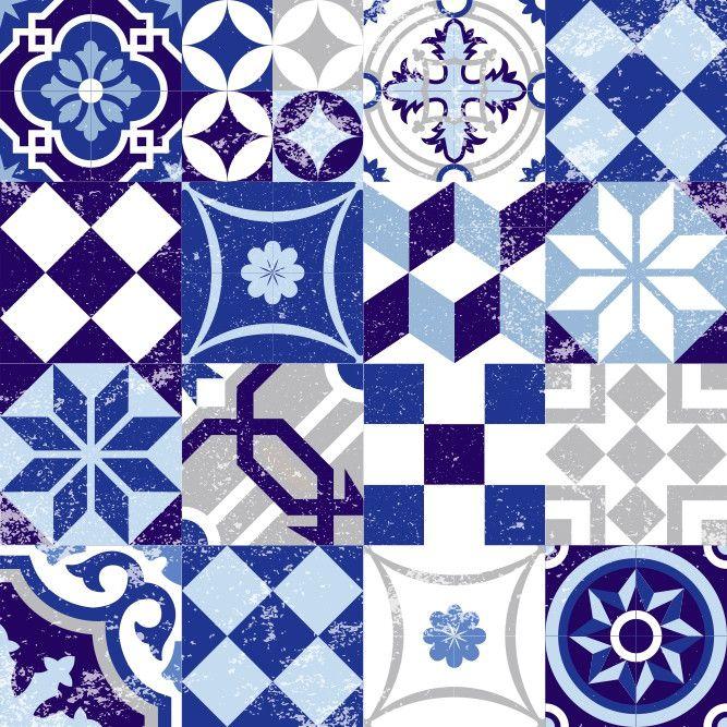 Adesivo Ladrilho Azulejos 65CE55
