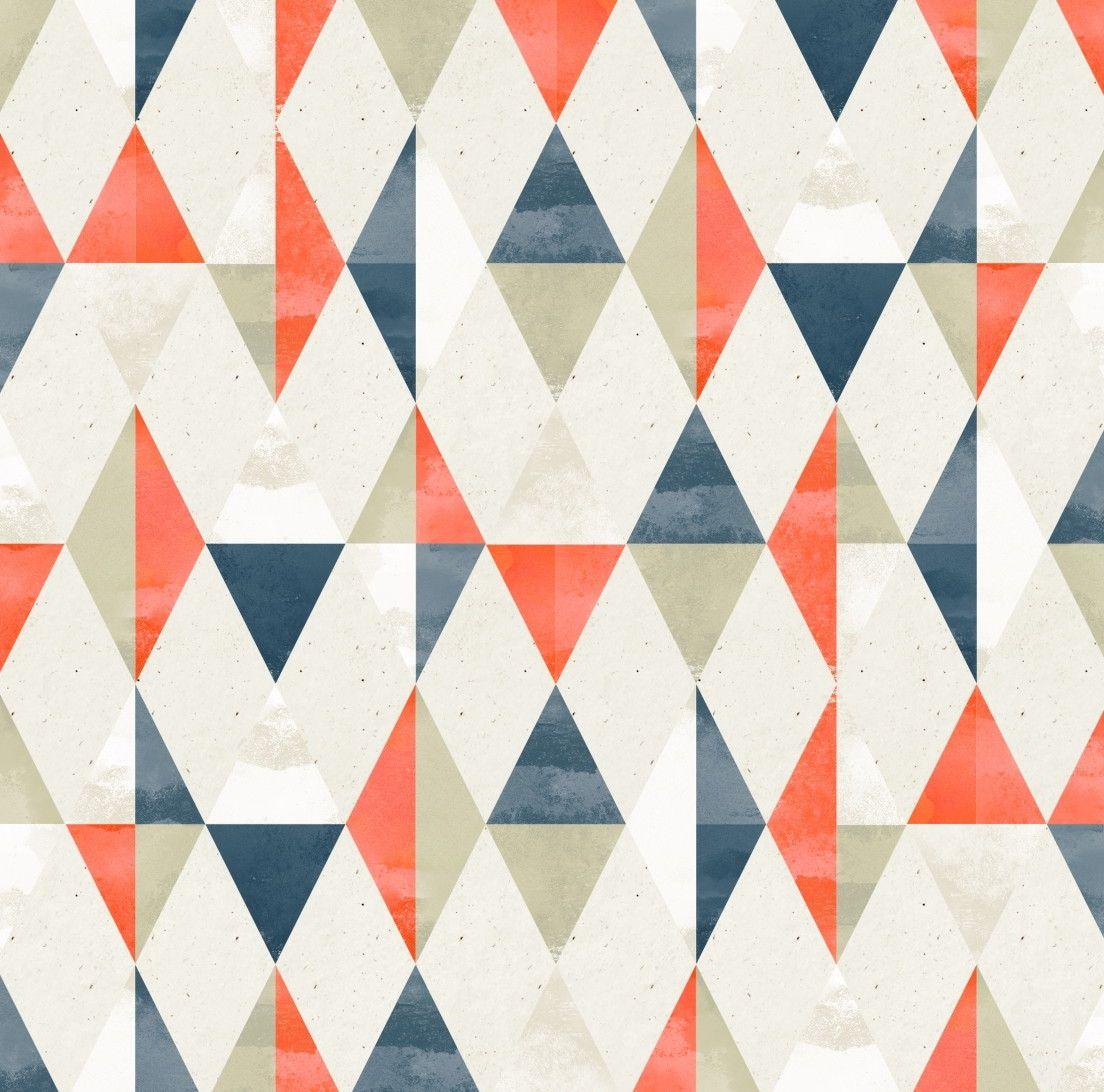 Papel de Parede Geométrico Triângulos Losangos 66B9D8